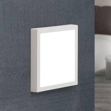 Applique LED Vika, carrée, blanche
