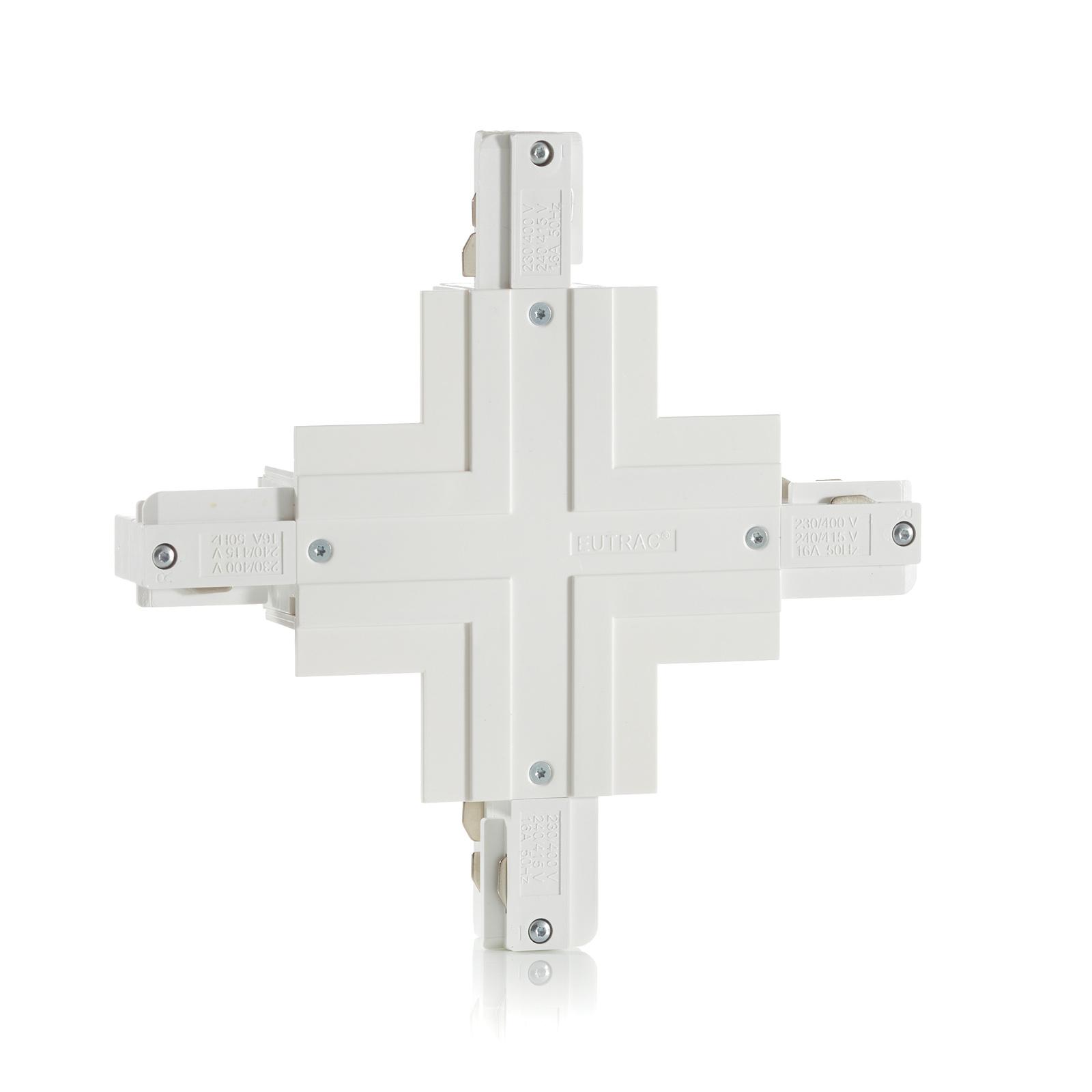 Eutrac X-Verbinder 3-Phasen-Einbauschiene, weiß
