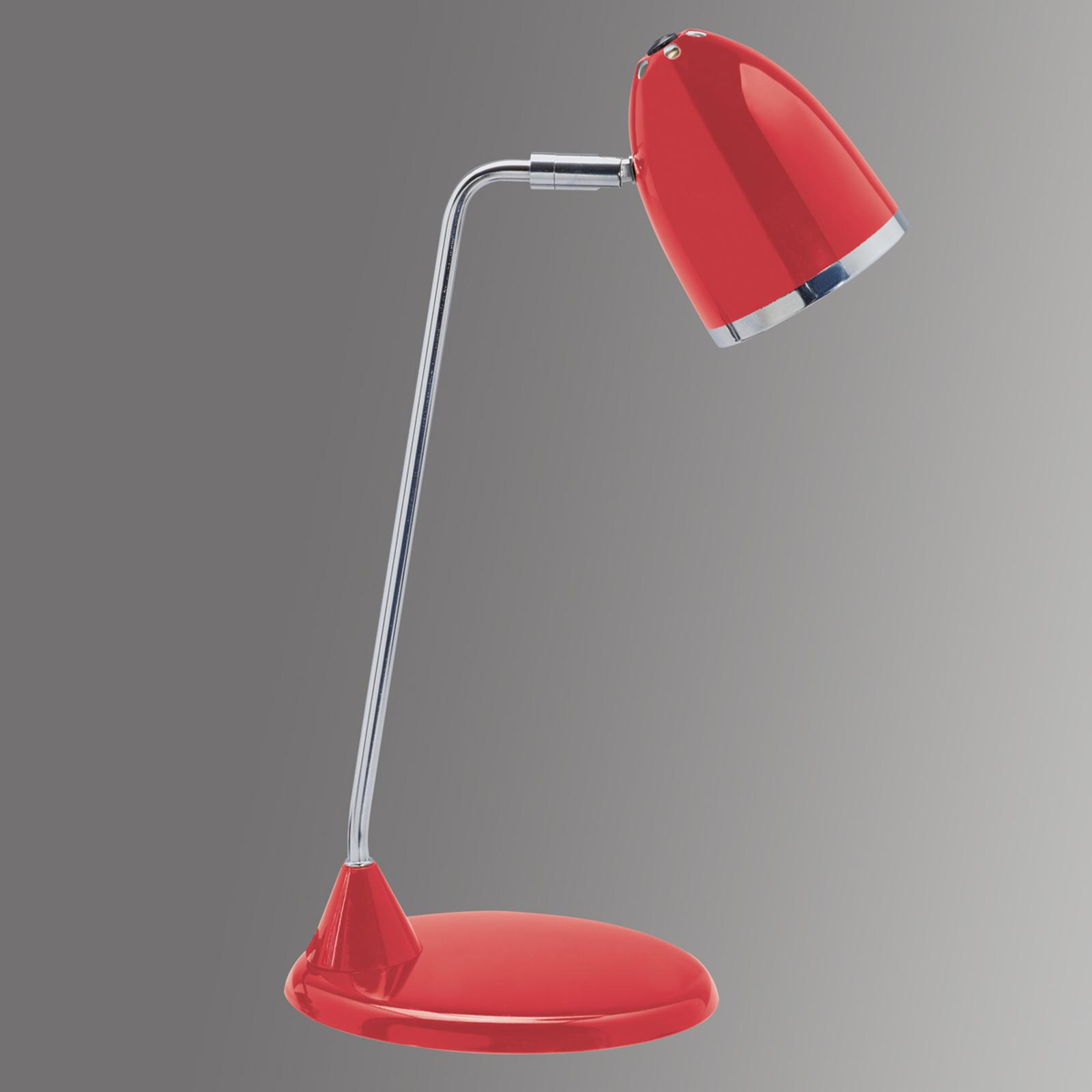Peppige bureaulamp Starlet - rood