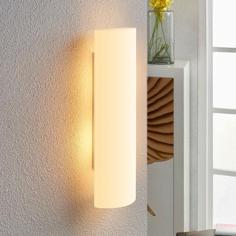 Bílá skleněná nástěnná lampa Ophelia