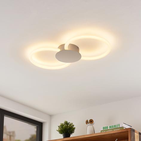 Lucande Clasa -LED-kattovalo, 2-lamppuinen