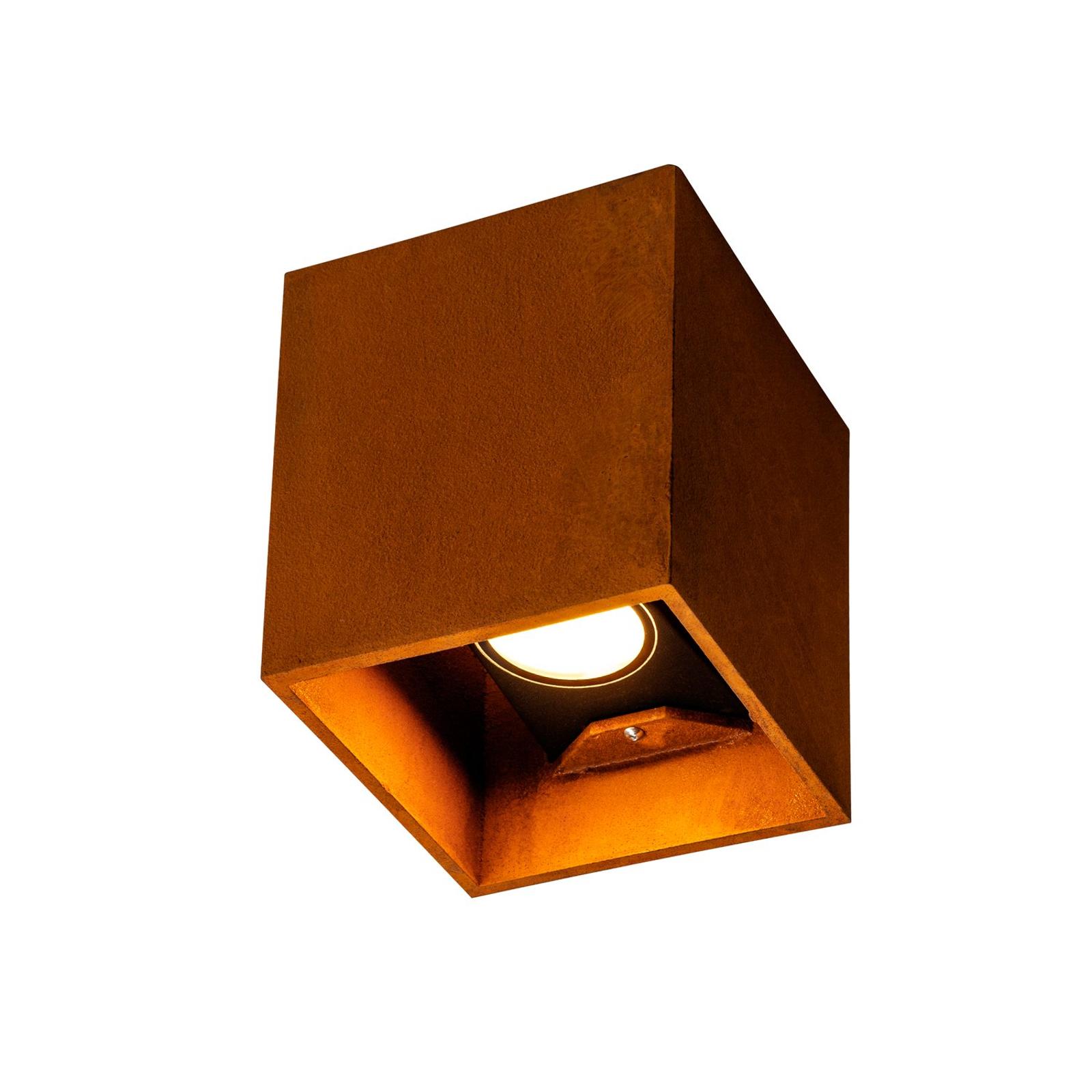 SLV Rusty applique ext LED up/down parallélépipède