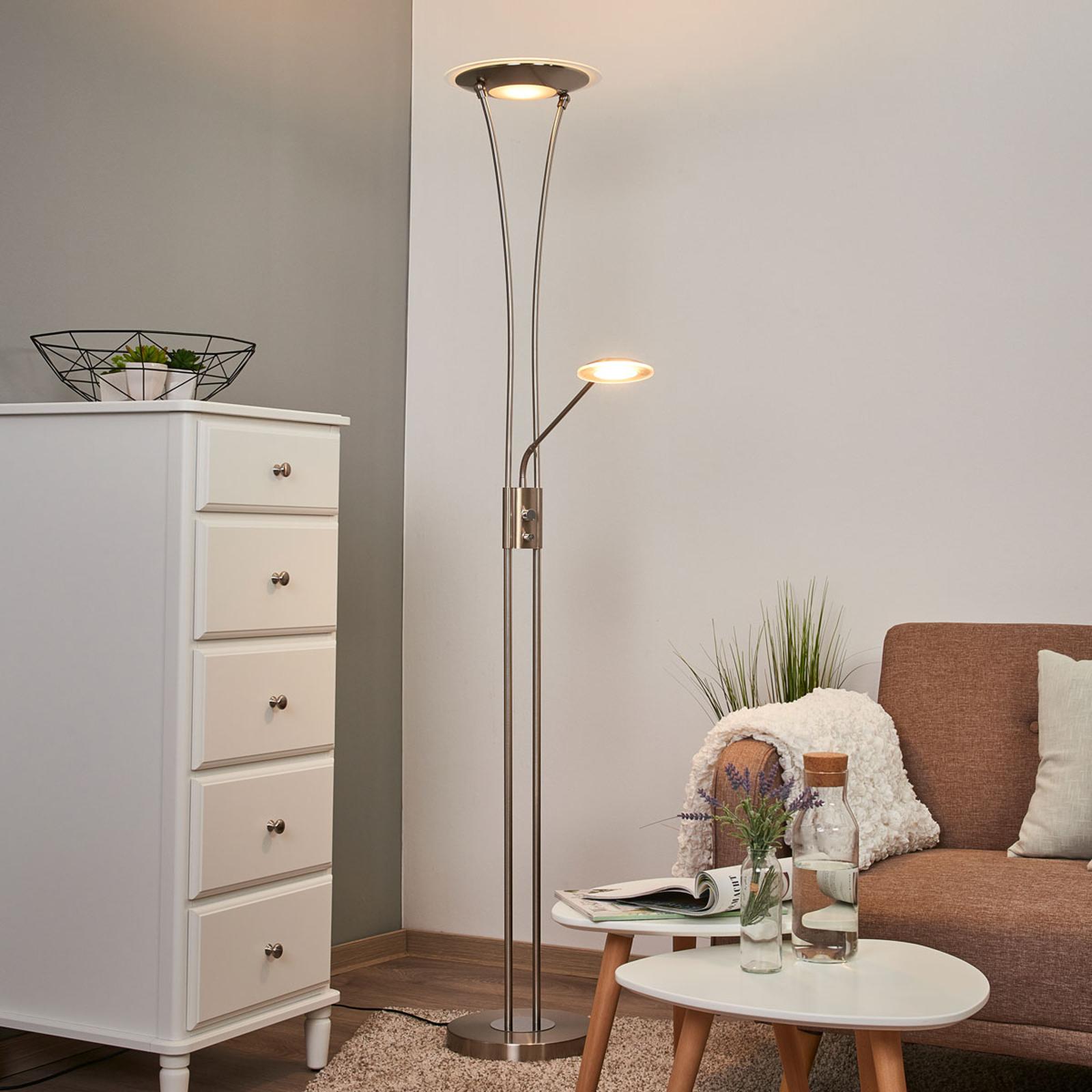 Lampadaire à éclairage indirect LED Eda