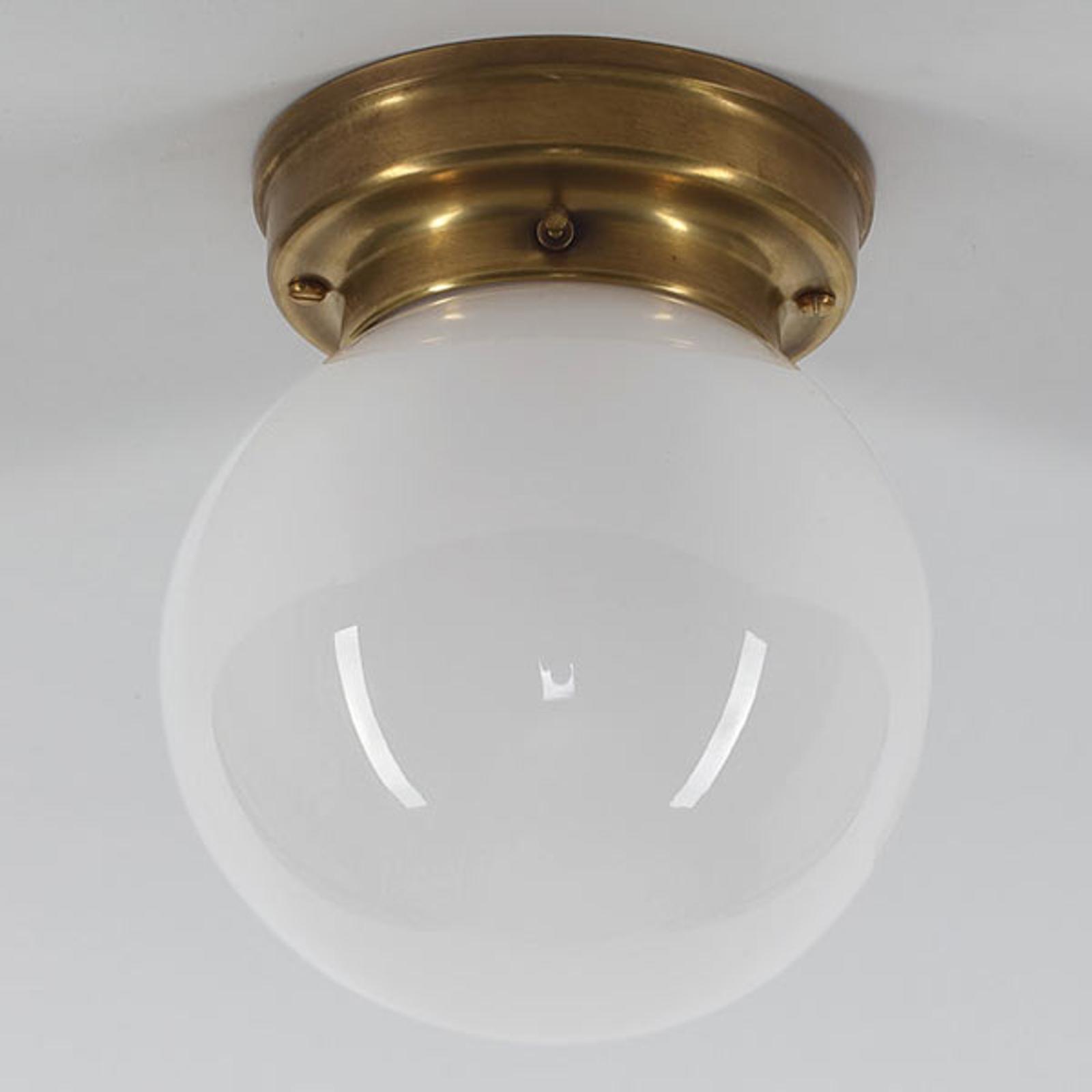 Plafonnier D99-115 op B à abat-jour en verre opale