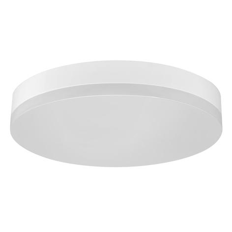 Lámpara LED de techo Office Round IP44 blanco cál.