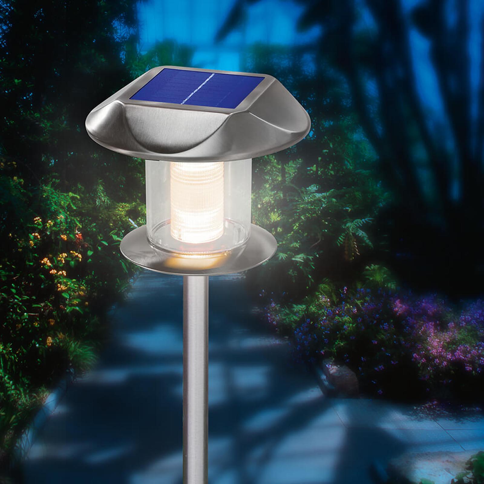 Lámpara solar de acero inox Sunny