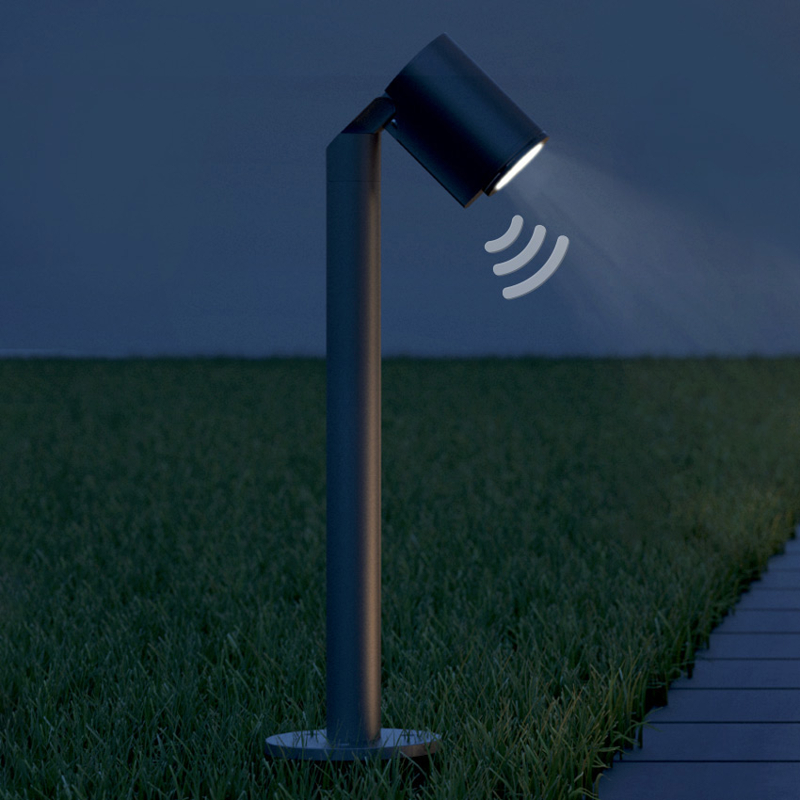 STEINEL Spot Way Sensor NightAutomatic sokkelampe