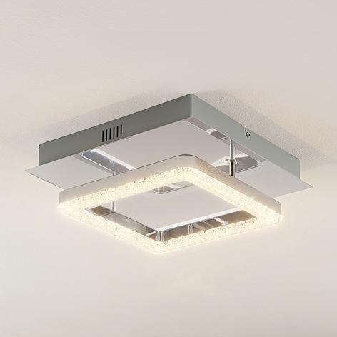 Lindby Charleen plafonnier LED, chromé