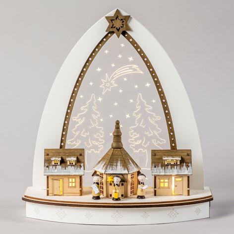 Arco de velas triangular LED detallado Seiffen