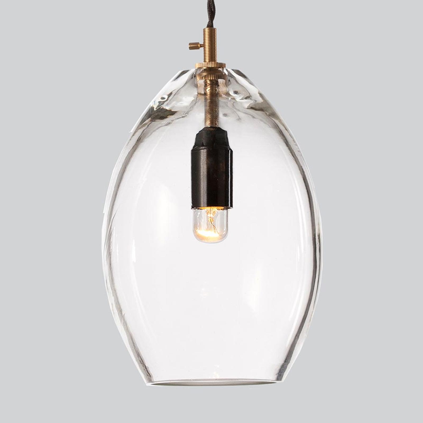 Przezroczysta szklana lampa wisząca Unika, 14 cm