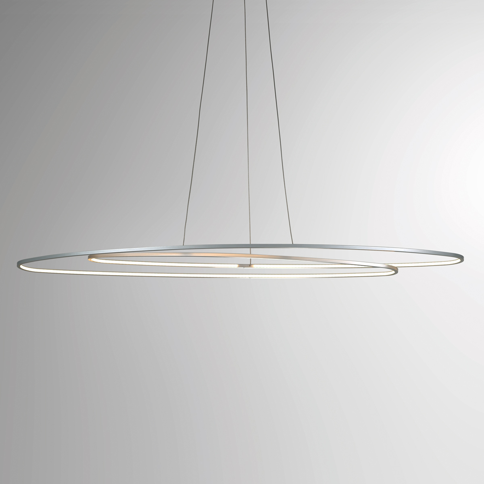 Ovale LED hanglamp Flair, aluminium