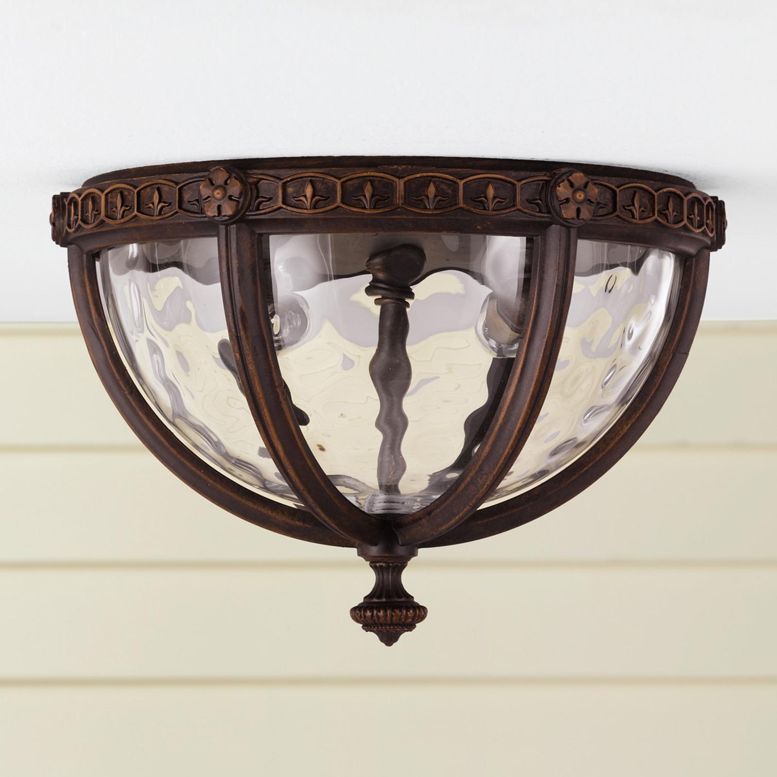 Venkovní stropní svítidlo REGENT COURT rustikální