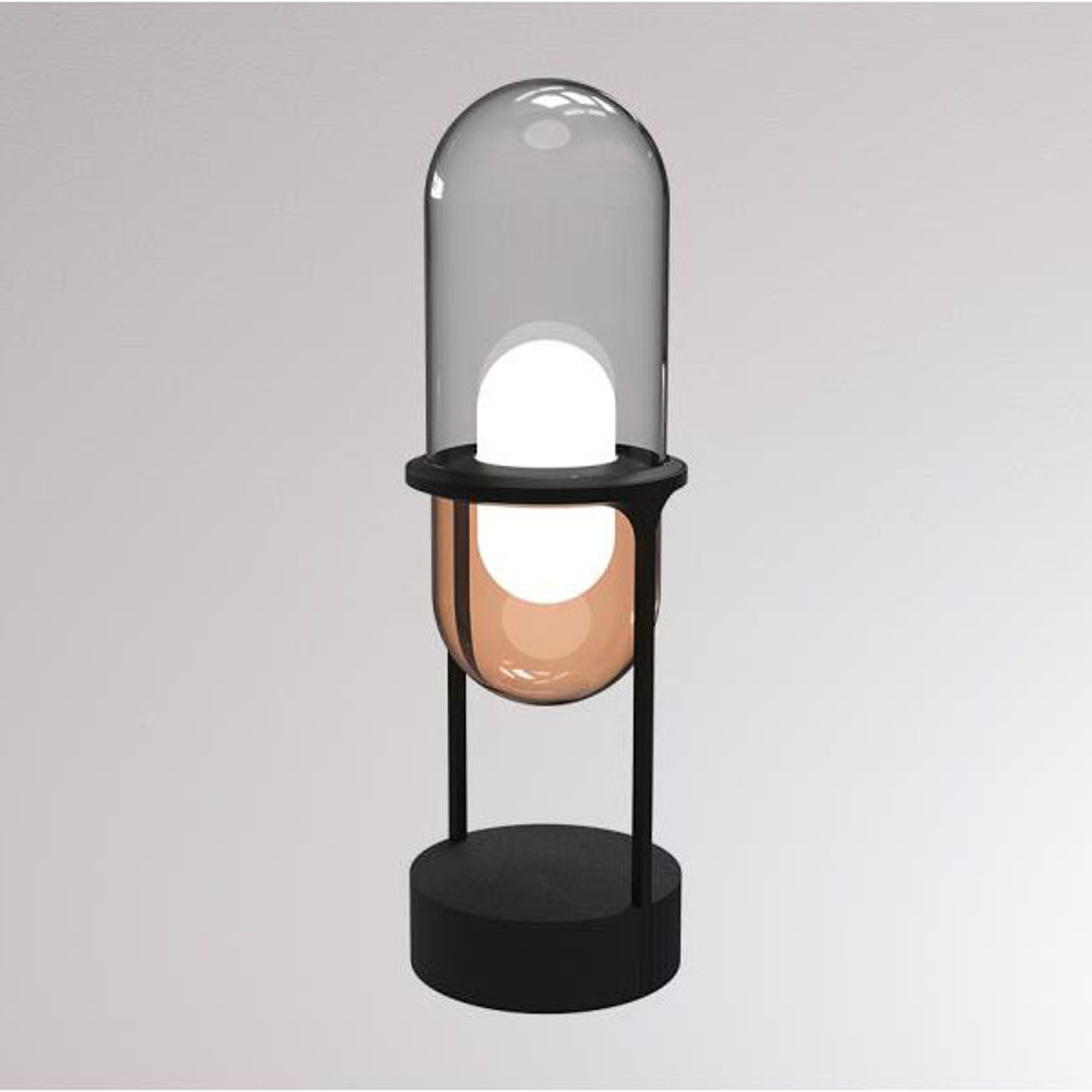 LOUM Pille LED tafellamp grijs/koper