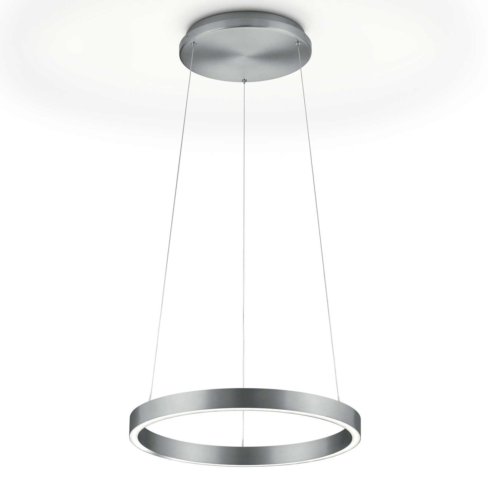 Suspension LED Svea-40, capteur de gestes, nickel