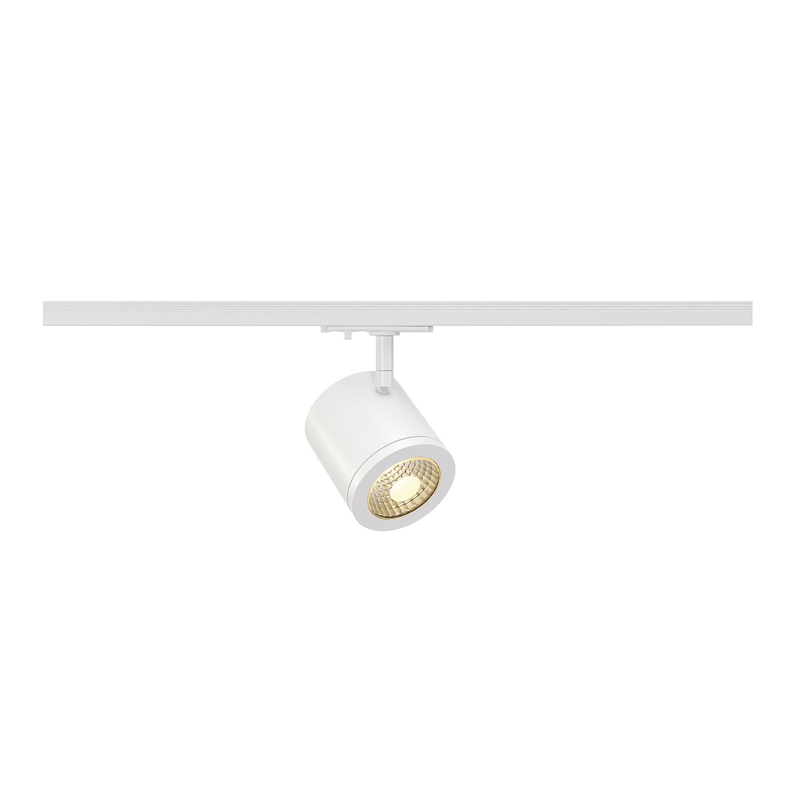 Spot LED blanc sur rail Enola, 55°