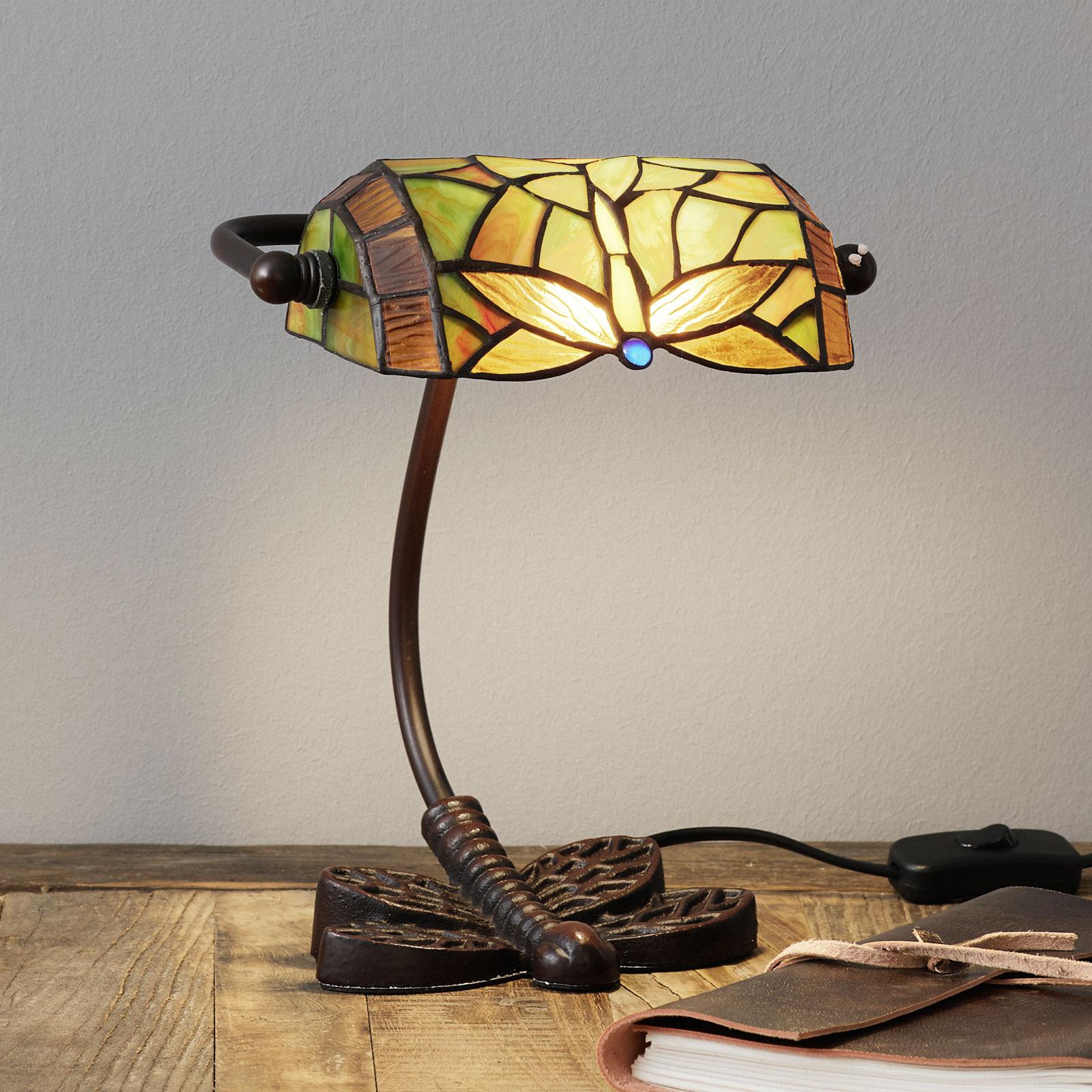 Utsökt bordslampa DRAGONFLY, handtillverkad