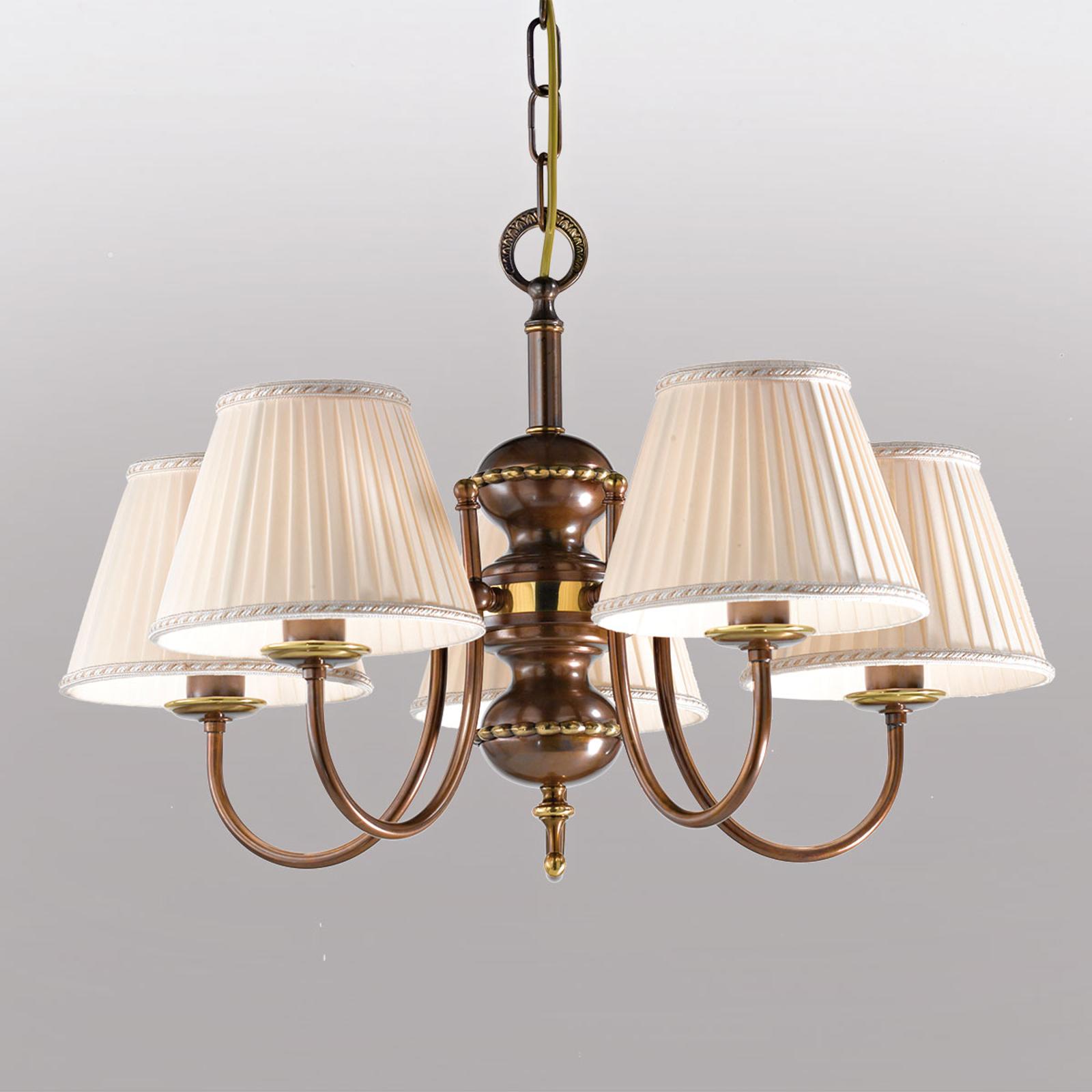 5-lichts hanglamp Classic
