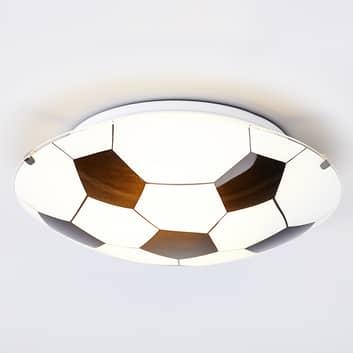 Zwart-witte plafondlamp voetbal