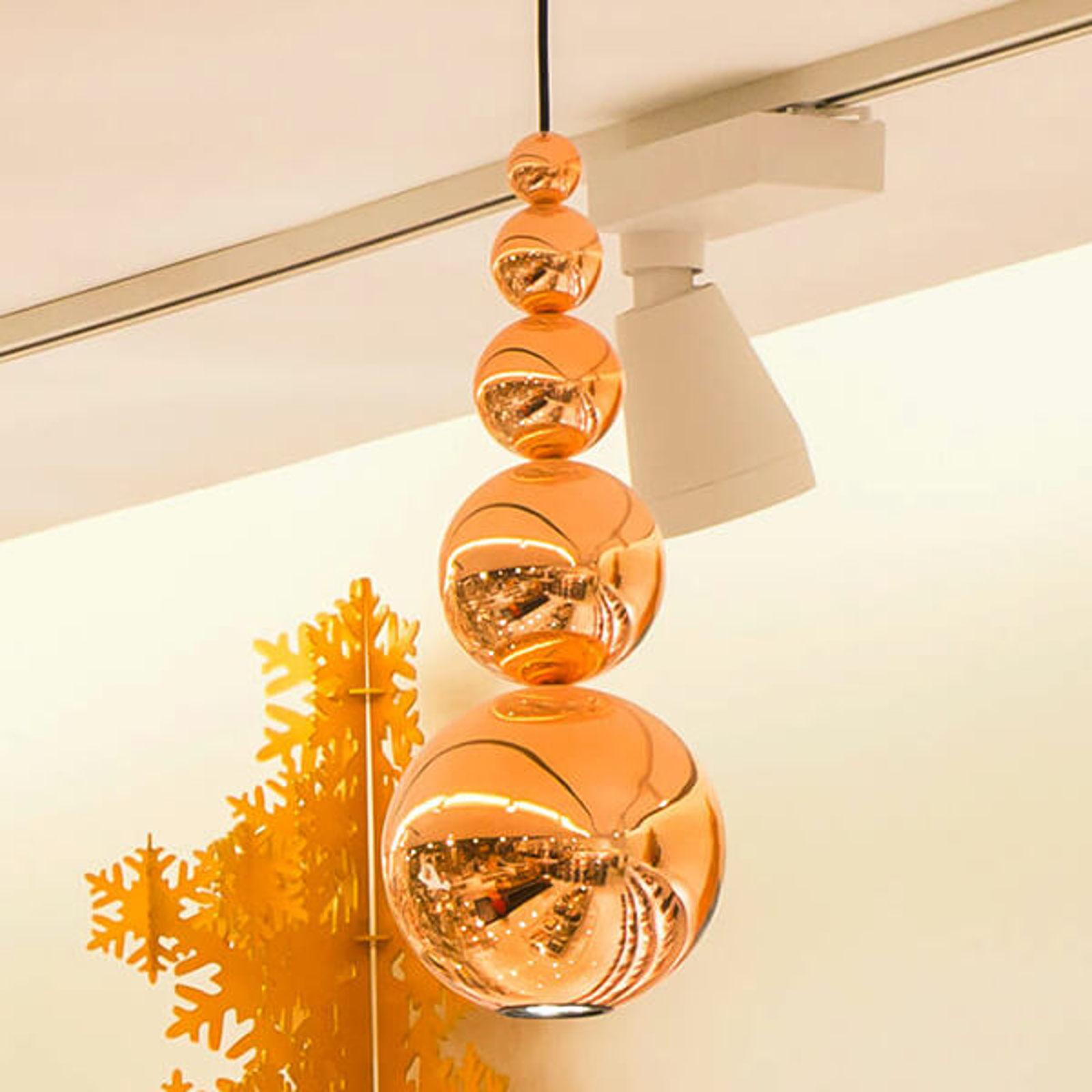 Innermost Bubble - lampa wisząca w miedzi