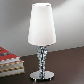 Crystal liten hvit bordlampe