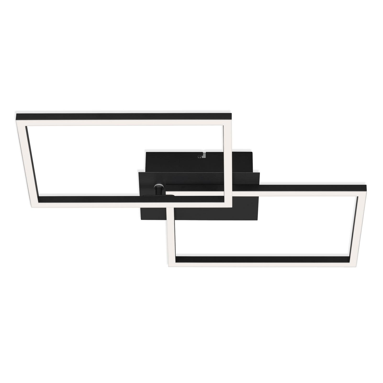 Plafonnier LED Frame CCT, noir, 50x39cm