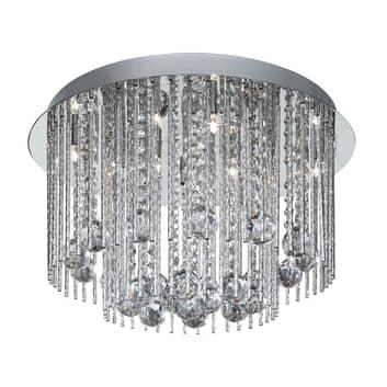 BEATRIX taklampa med kristallhängen
