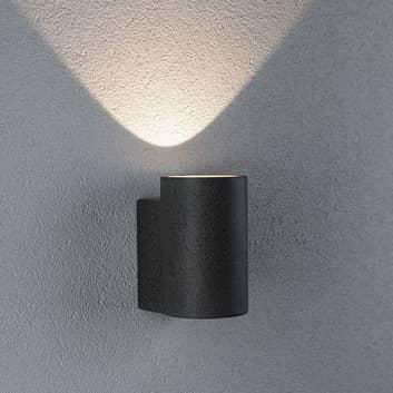 Paulmann Concrea udendørs LED-væglampe, cylinder