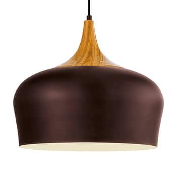 Závěsné světlo Obregon v hnědé barvě