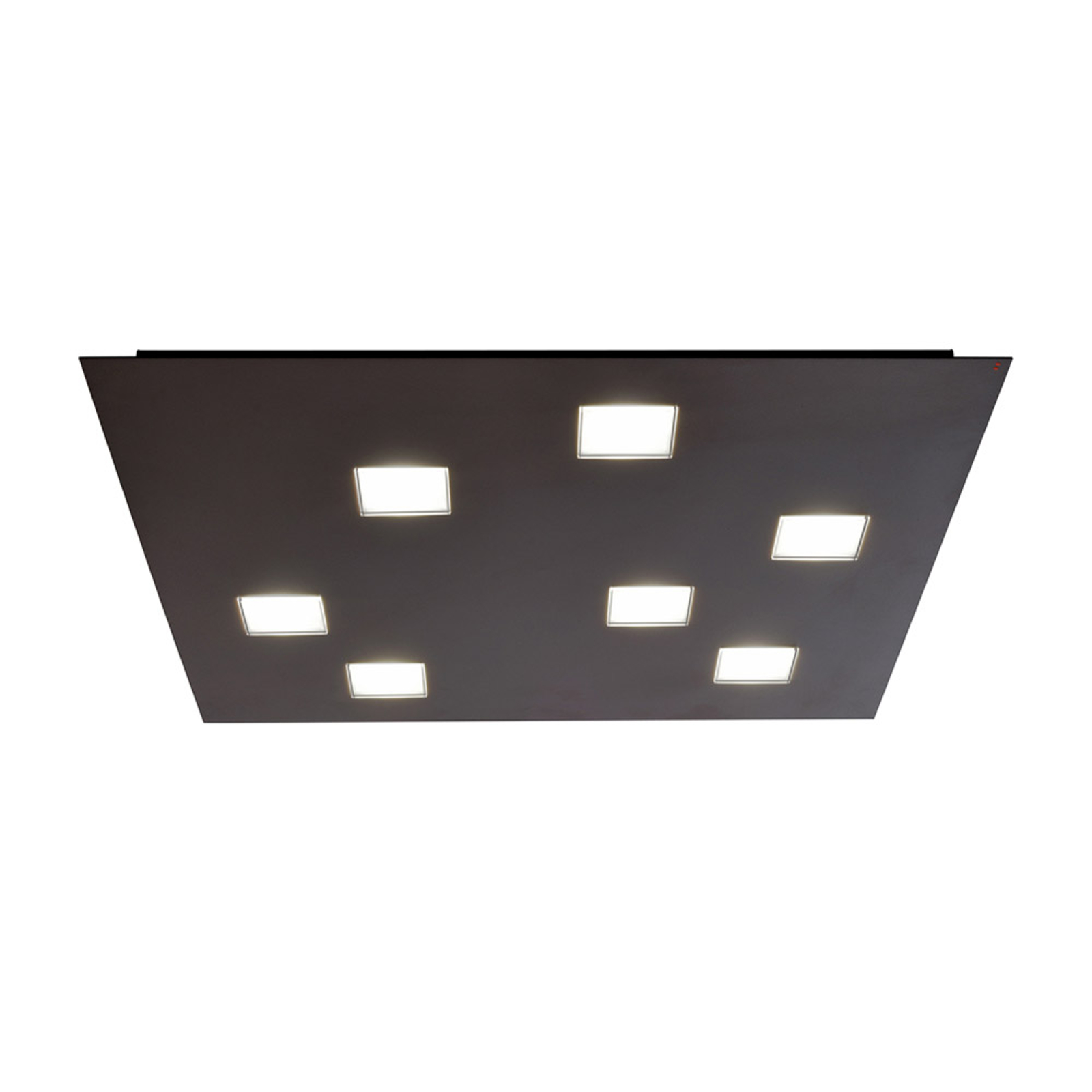 Fabbian Quarter – svart LED-taklampa 7 lampor