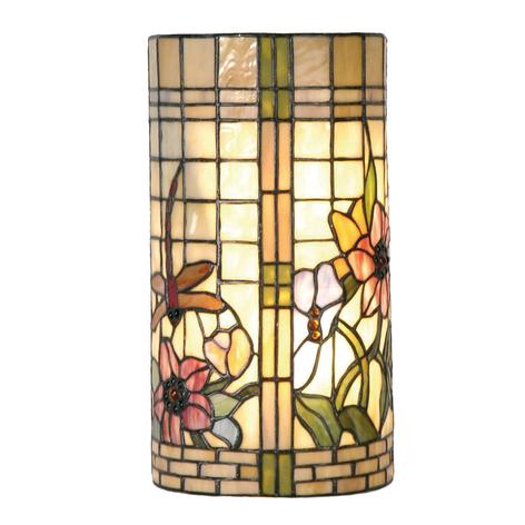 Lámpara de pared florida Hannah en estilo Tiffany