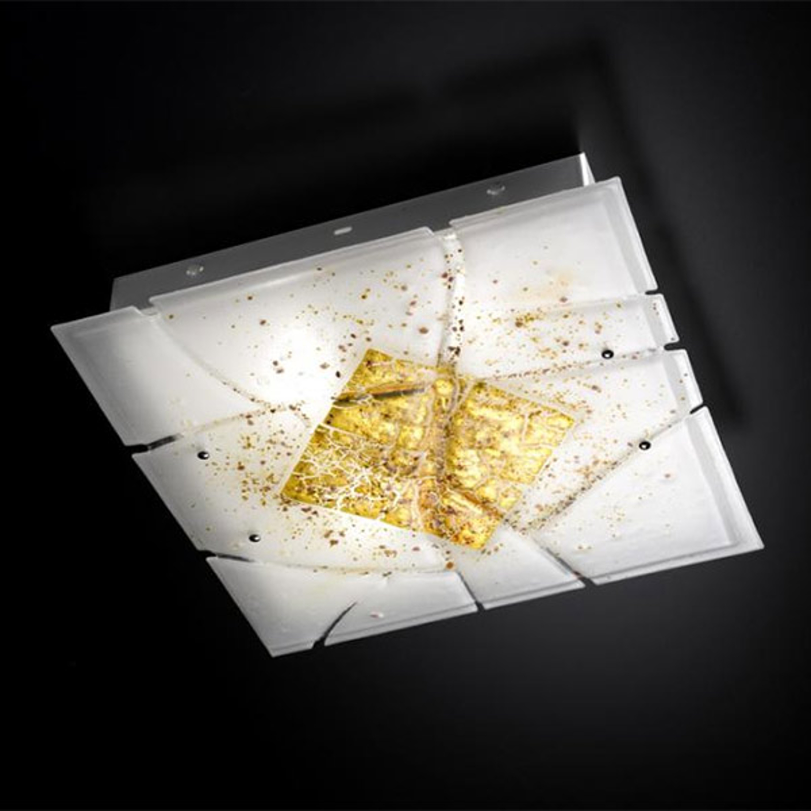Kwadratowa lampa sufitowa Frame E27