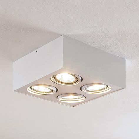 Arcchio Dwight plafonnier LED en blanc, 4 lampes