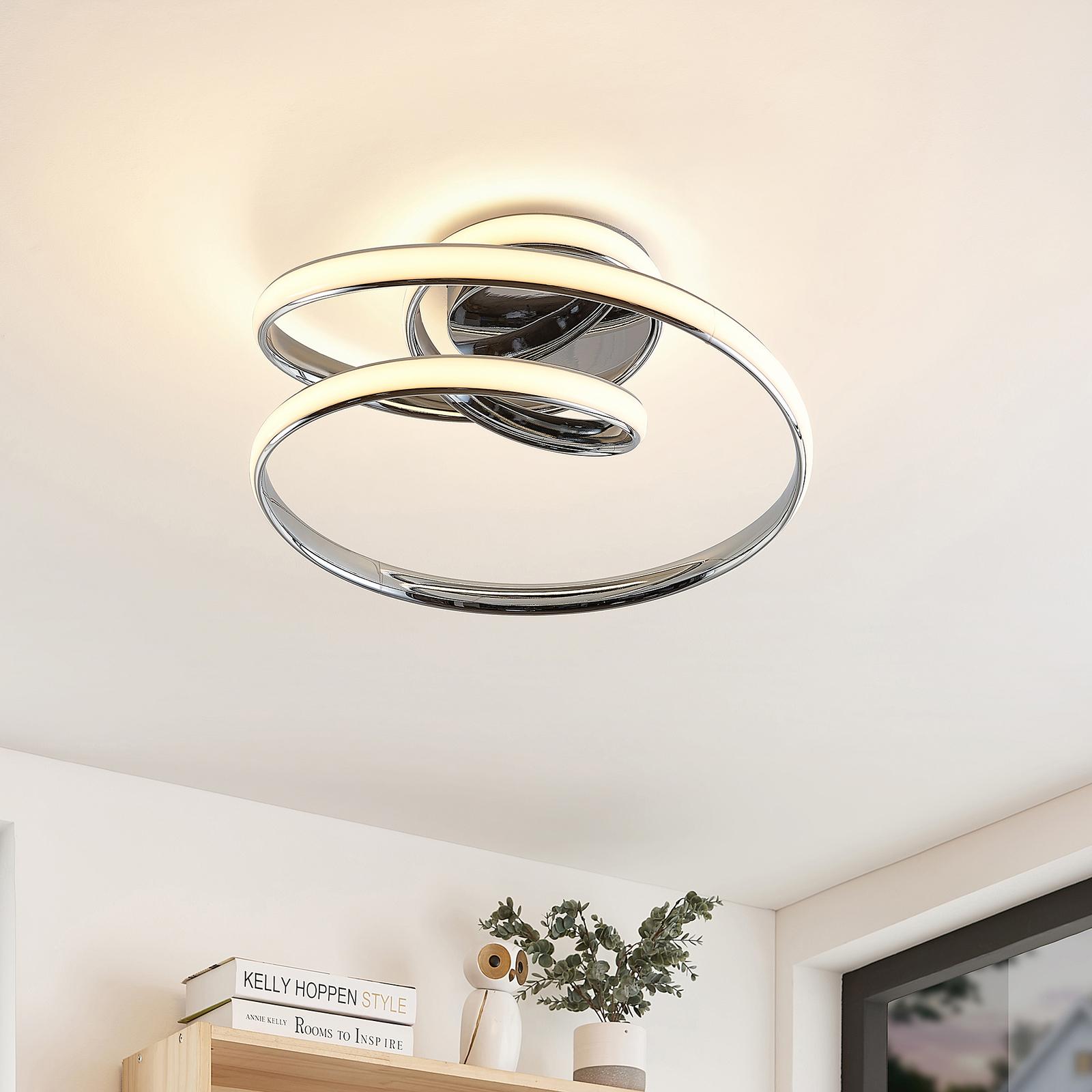 Lucande Sakina -LED-kattovalaisin kromi