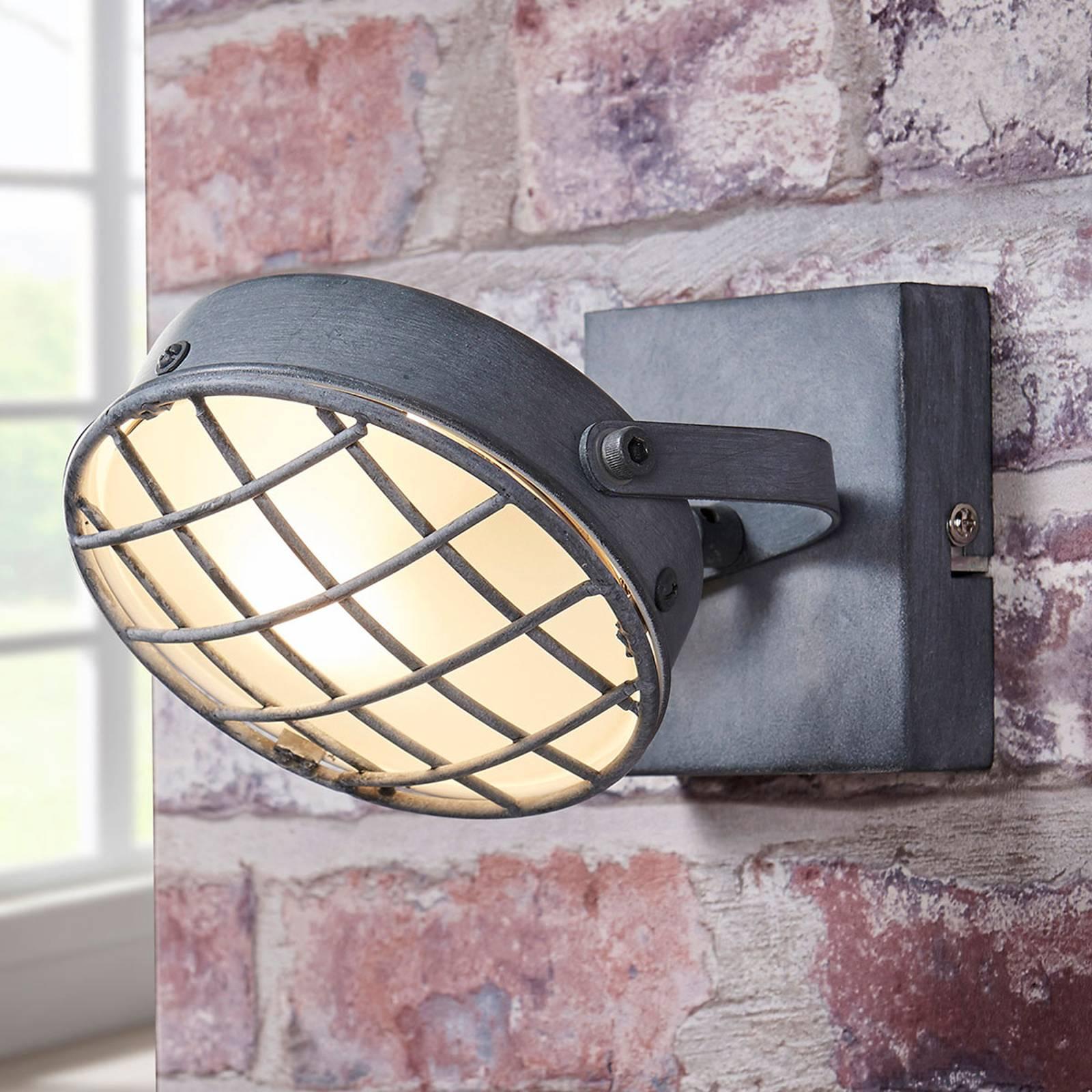 Rookgrijze LED spot Tamin, industriële stijl