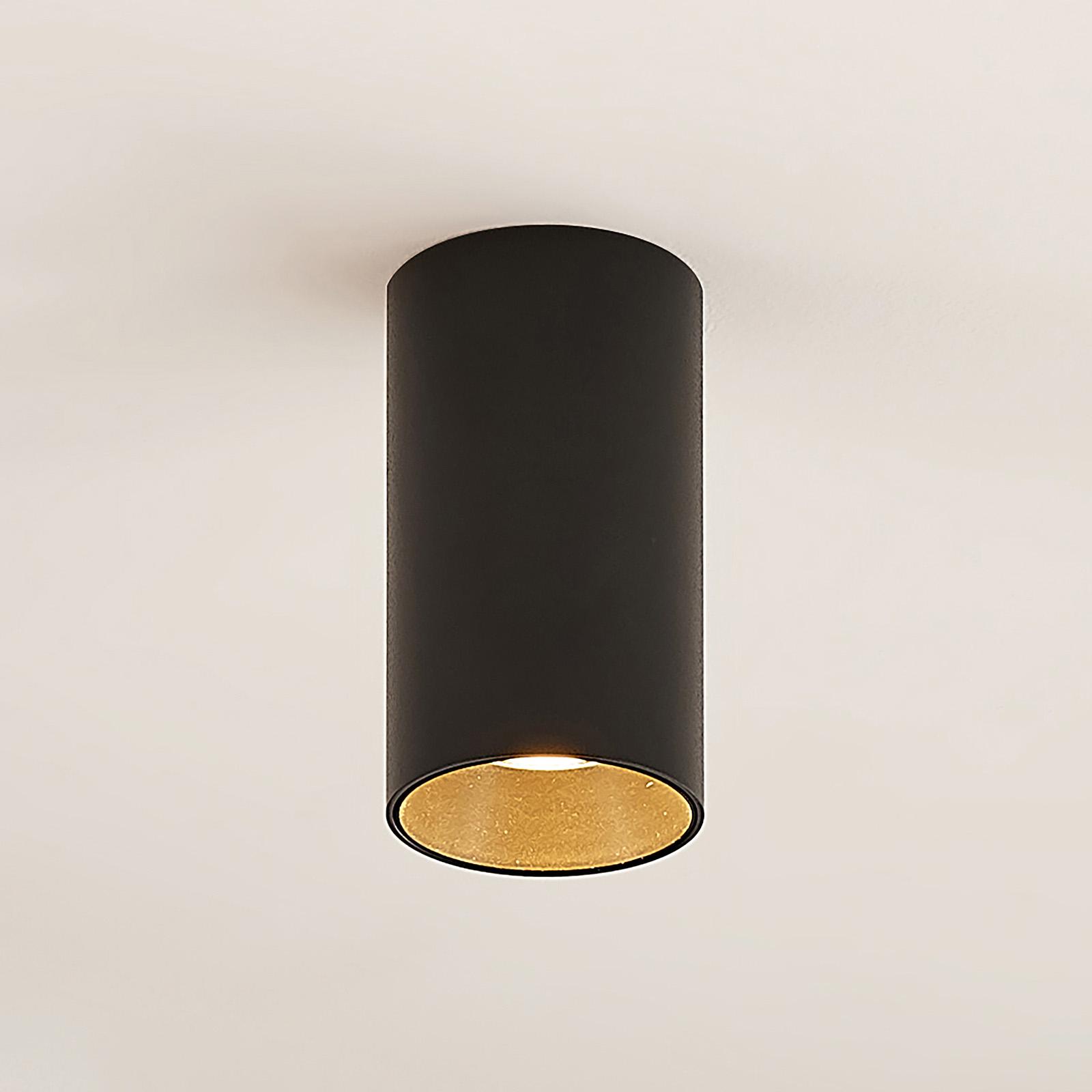 Arcchio Dilana -alasvalo, pyöreä, GU10, musta