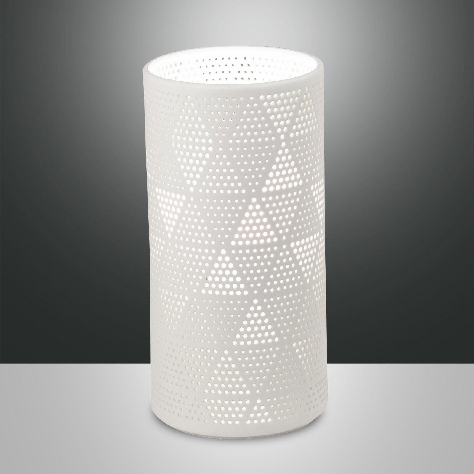 Lampa stołowa Micol z ceramiki, wysokość 20 cm