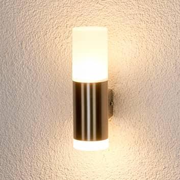 Gabriel - LED-udendørsvæglampe, rustfrit stål