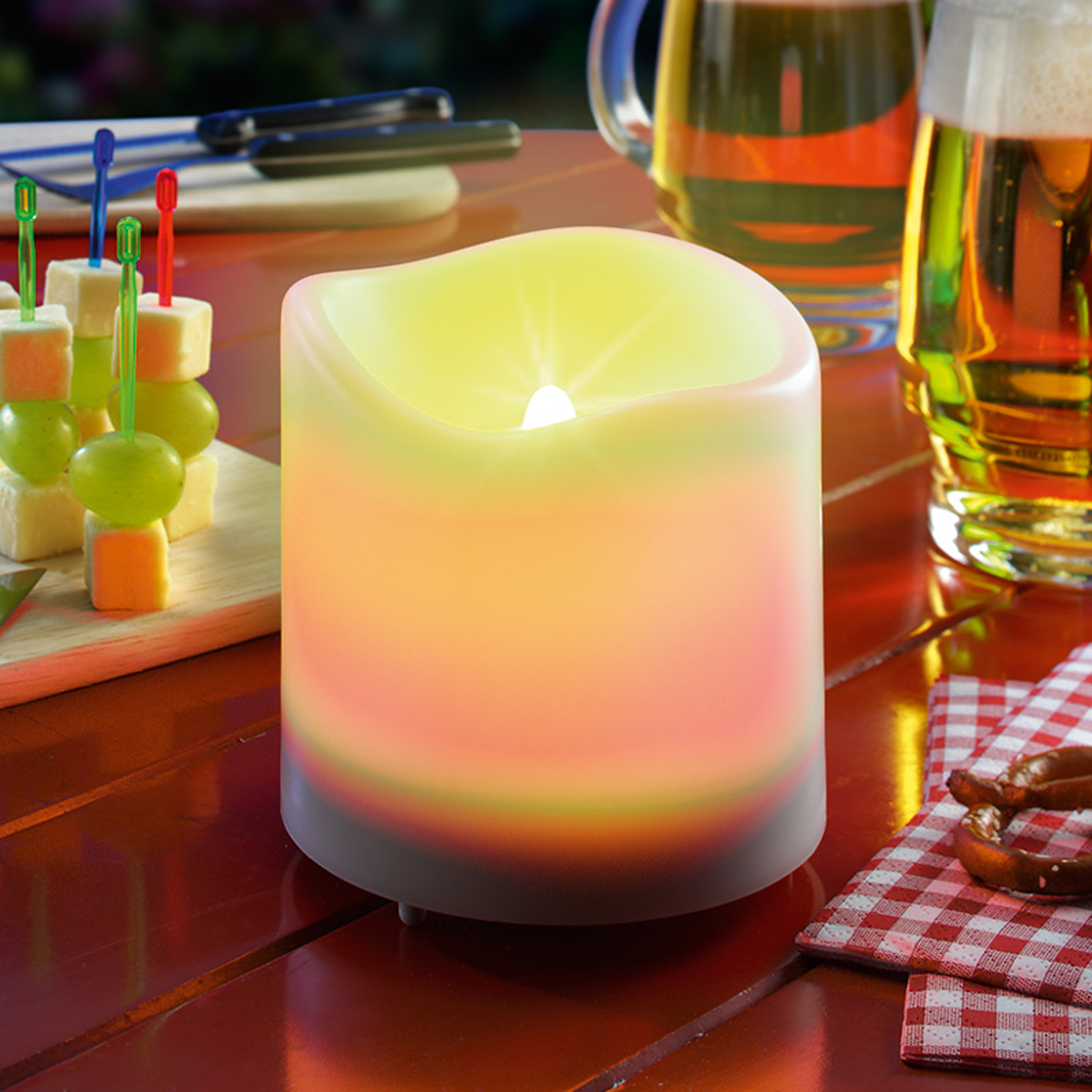 Witte LED-Solar-kaars Candle Light