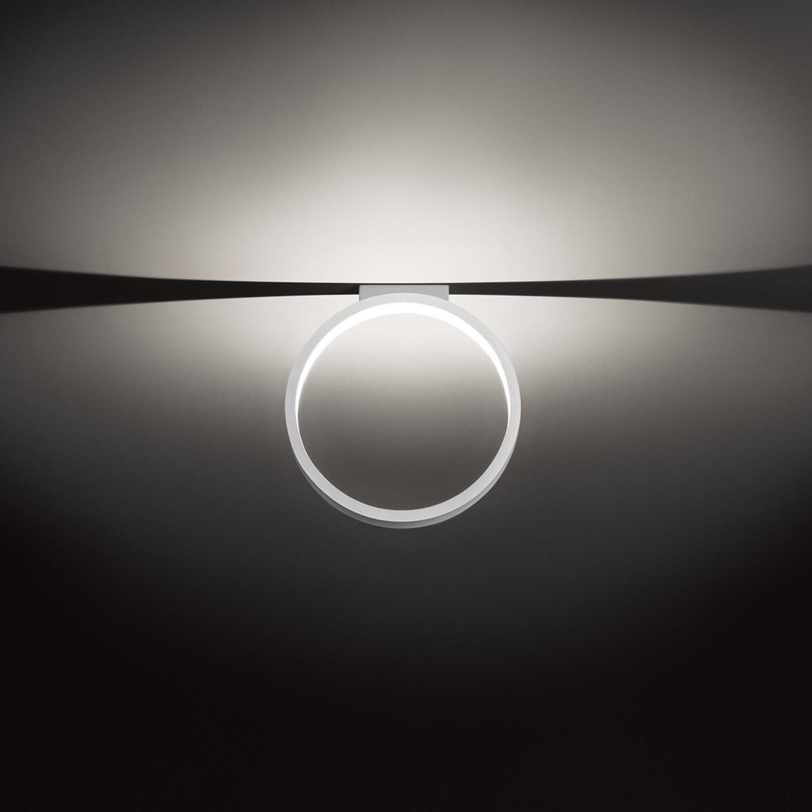 Ringformad designtaklampa Assolo, 43 cm