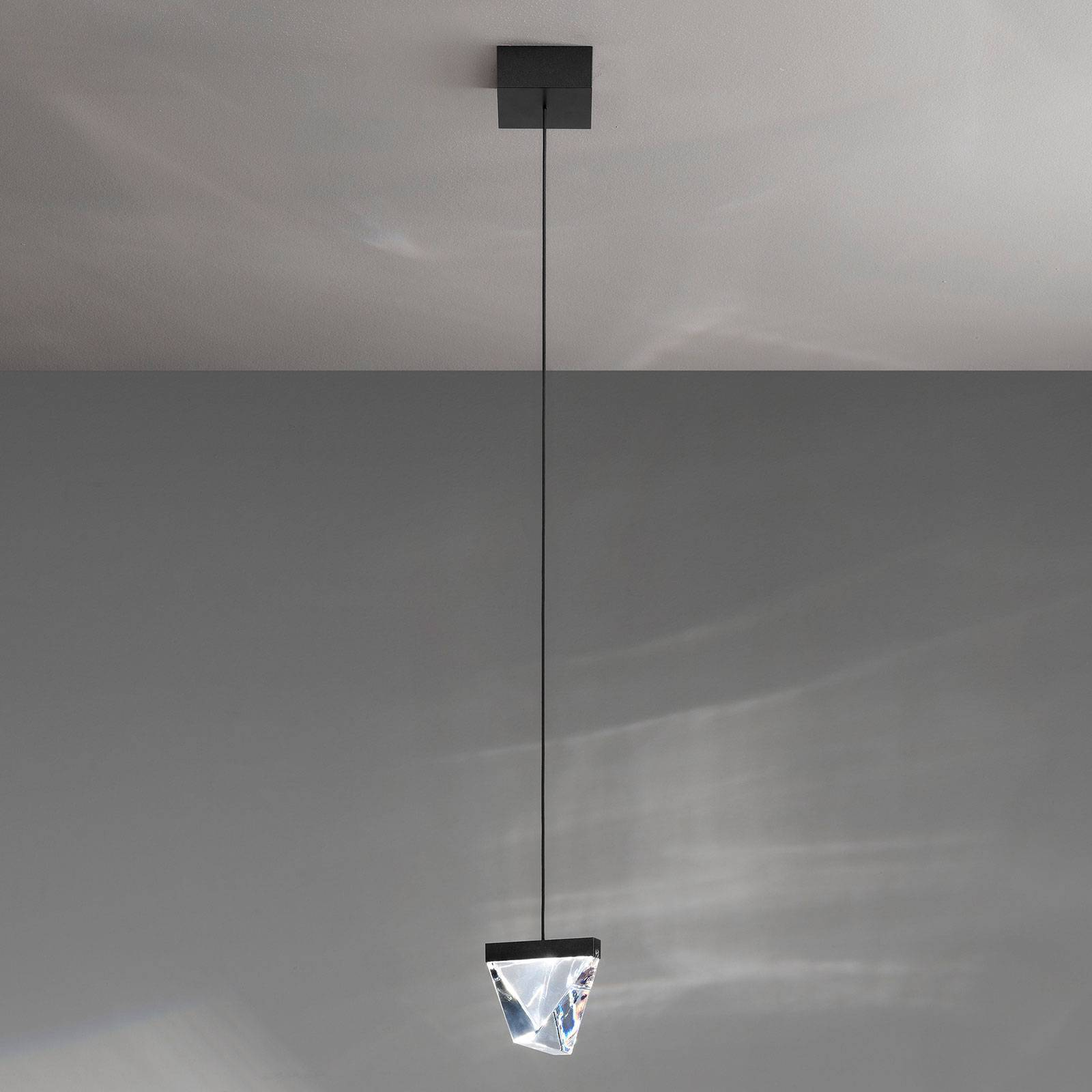 Fabbian Tripla LED hanglamp kristal antraciet