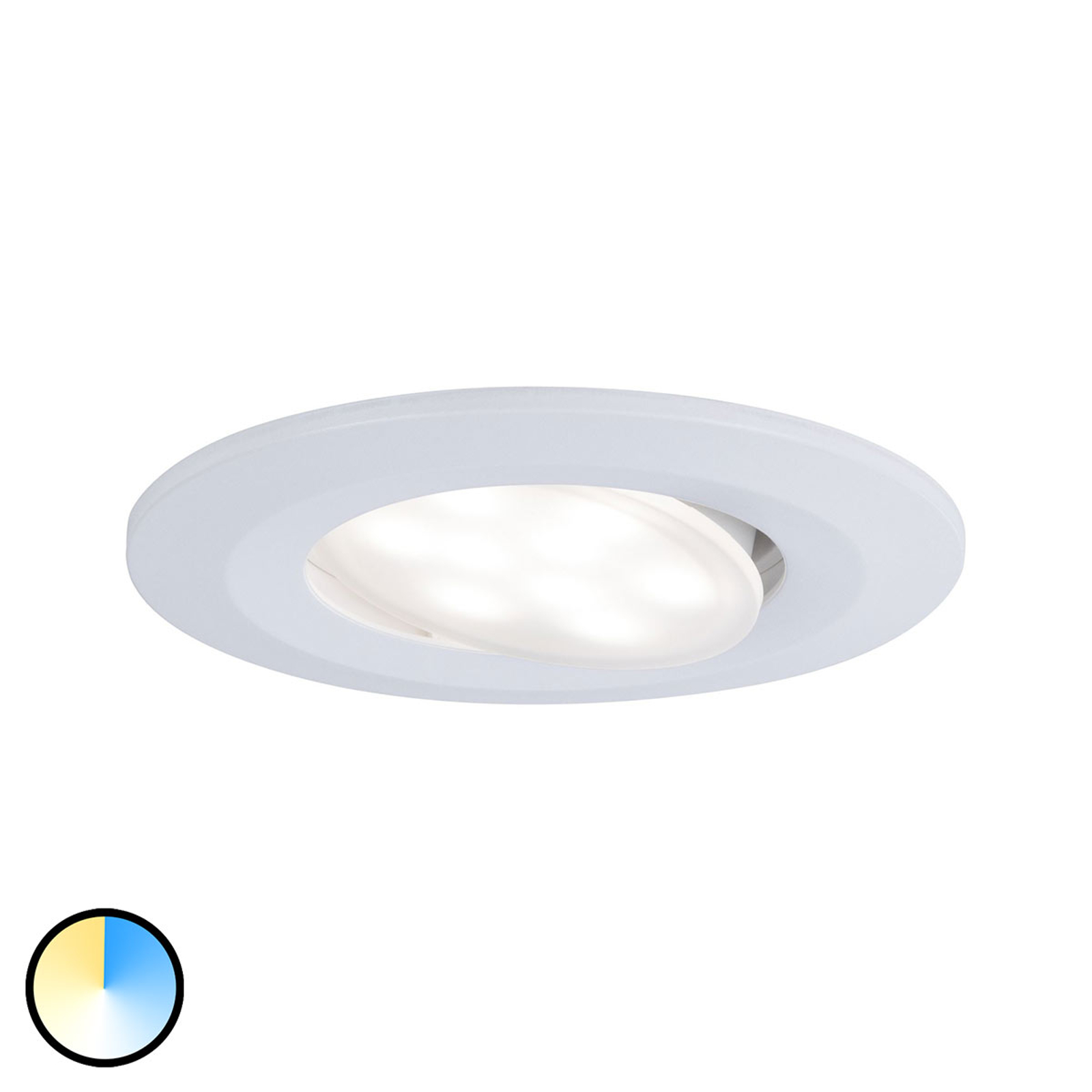 Paulmann LED inbouwspot Calla wit kleurverandering