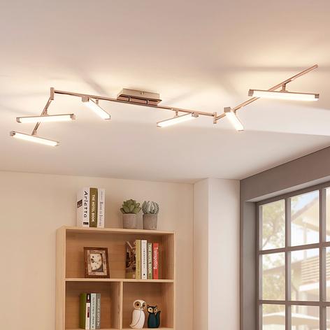 LED-taklampe Pilou med 6 lyskilder, dimbar