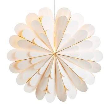 Estrella Marigold como lámpara colgante, blanco