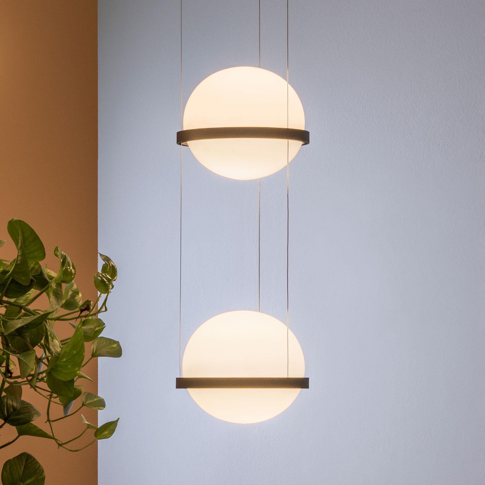 Vibia Palma 3726 lampa wisząca LED 2-pkt., grafit