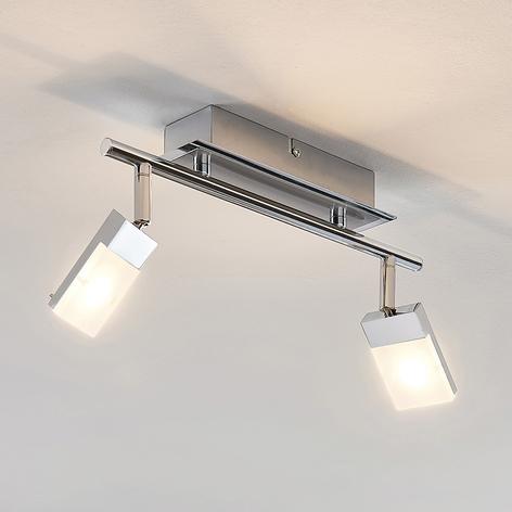 LED-Strahler Alija, verchromt, 2-flammig