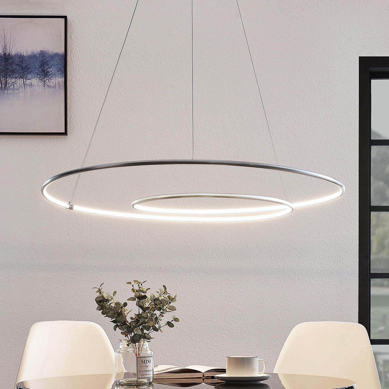 Lindby Lucy lampa wisząca LED, 90cm, aluminium