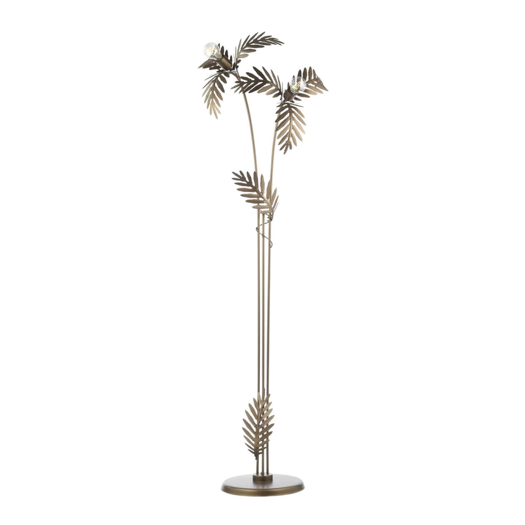 Stehleuchte Dubai in Blätteroptik, bronze