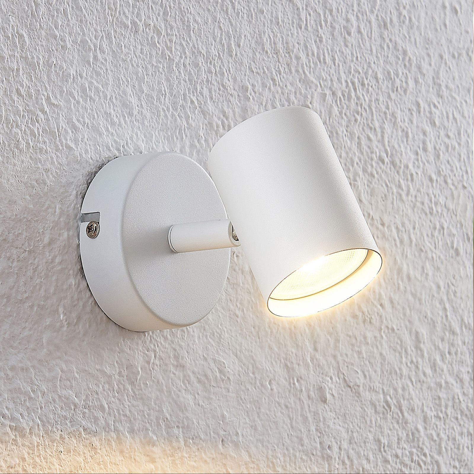 ELC Tomoki LED-spot, hvit, 1 lyskilde