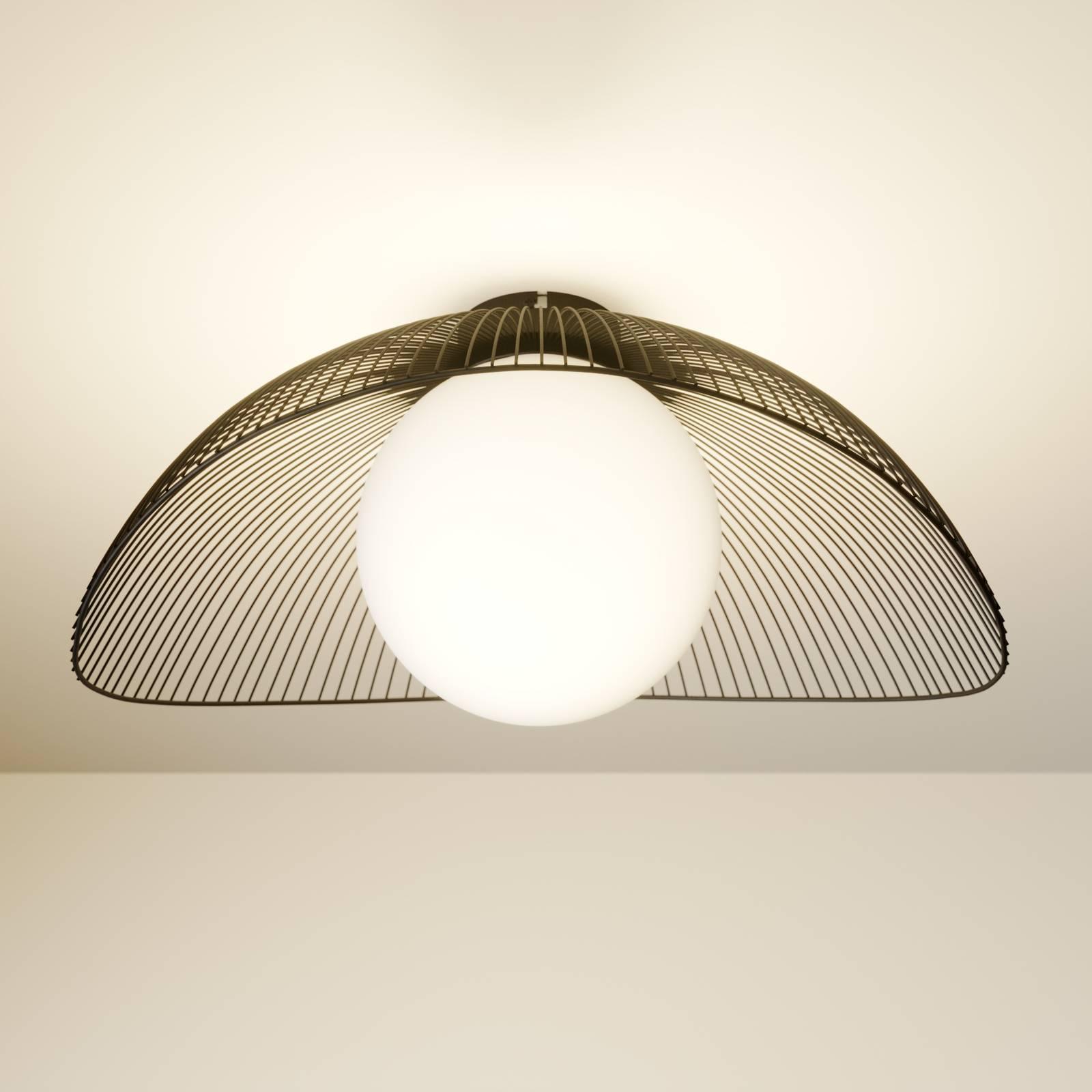 Lindby Fabronia plafondlamp, rooster, glasbol