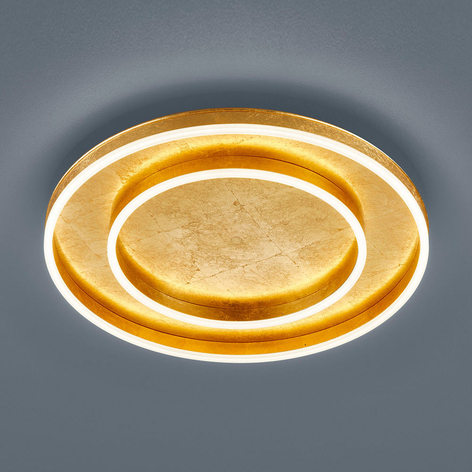 Helestra Sona plafón LED atenuable Ø60cm dorado
